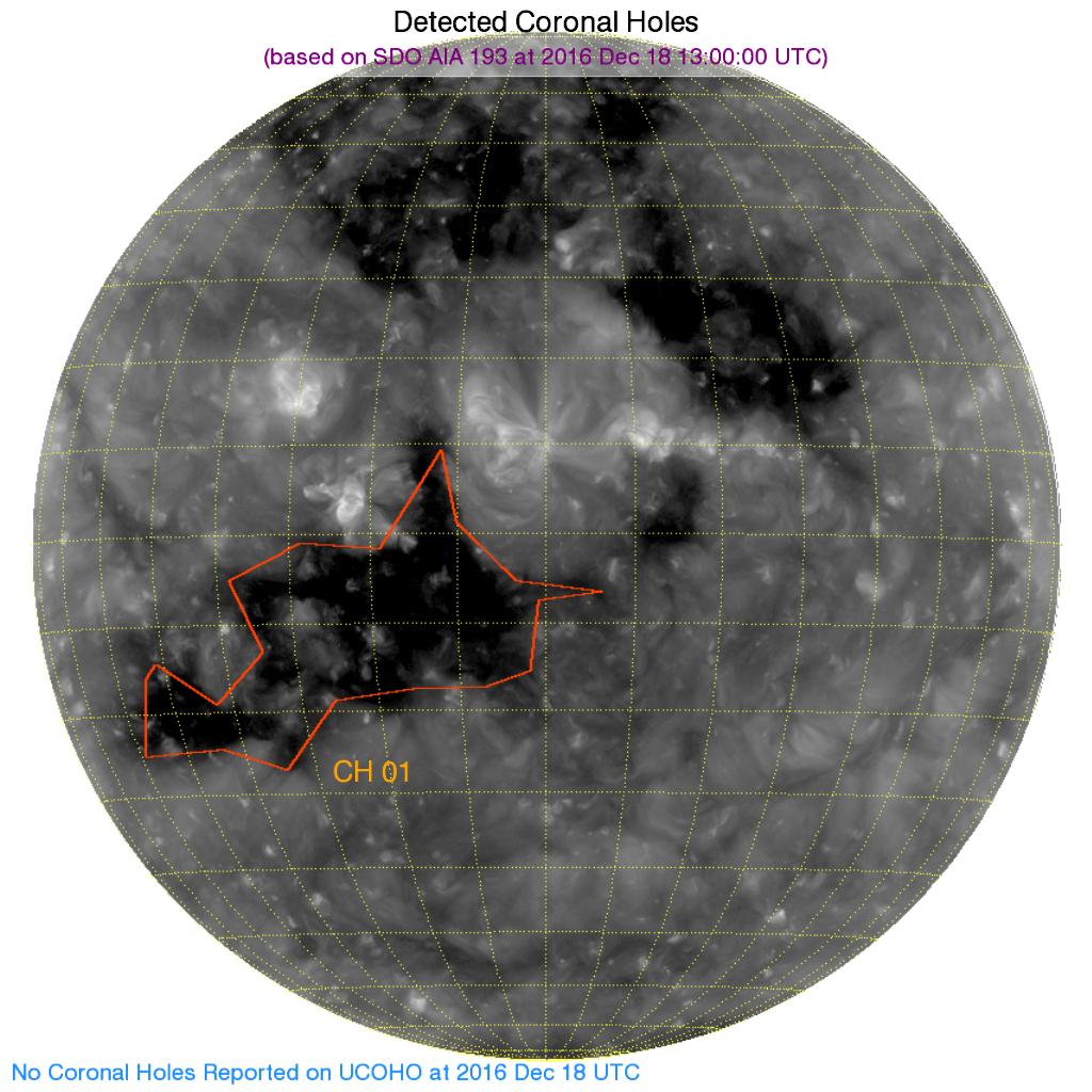 ASSA Detect Coronal Holes Plot